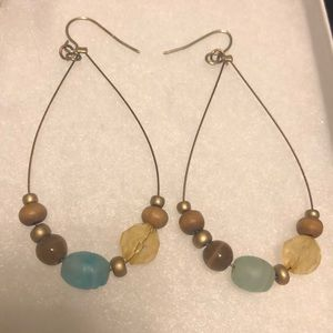 Jewelry - Natural inch and a half dangles with wire